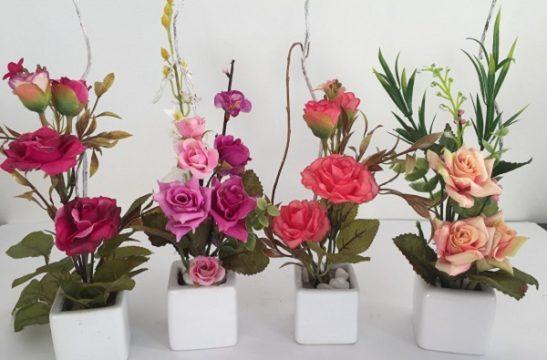 vaso flores artificiais